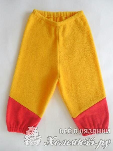 Детские штаны из флиса