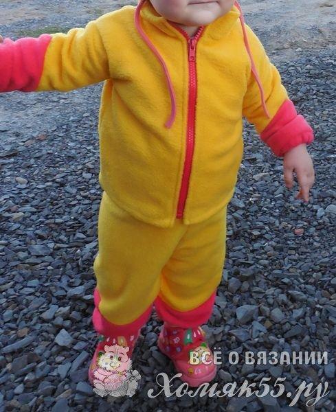 Как сшить костюм из флиса для ребенка