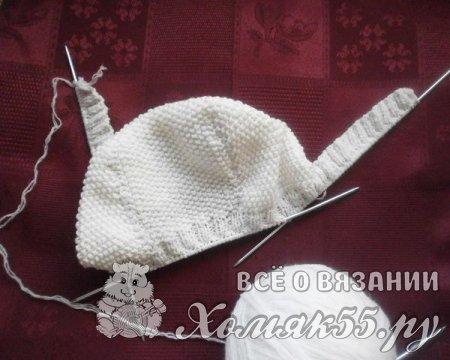 Чепчик для новорожденного спицами