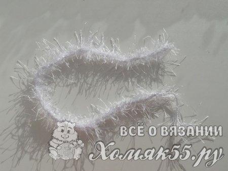 Костюм Снегурочки крючком