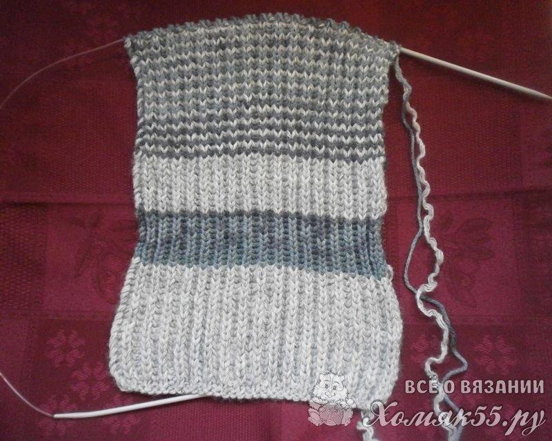 как связать шарф спицами