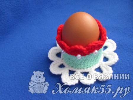 Вязание на Пасху: подставка для яйца