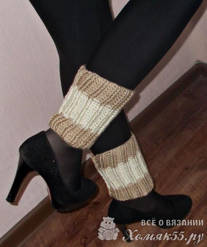 гетры женские вязание крючком мода весна 2018