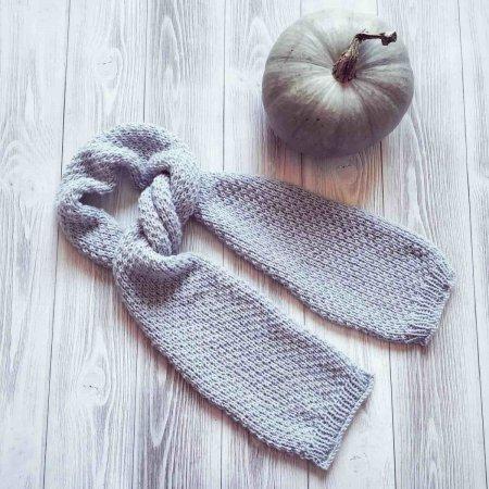 схемы вязания шарфа спицами